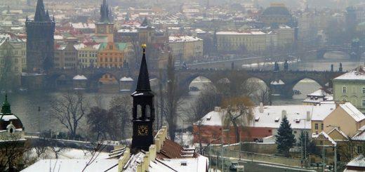Prague cityscape. Photograph by Mark Leaver
