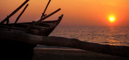 Sunset at Benaulim Beach, Goa. Photograph by Mandy Julian