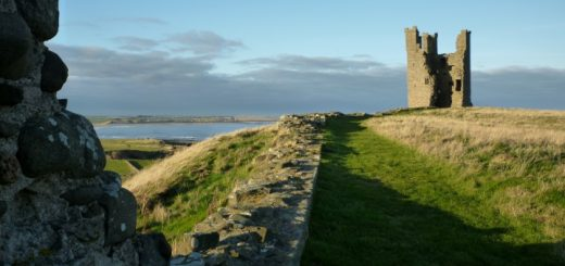 Dunstanburgh Castle on the Northumberland Coast. Photograph by Graham Soult