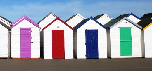 Beach huts at Paignton. Photograph by Graham Soult