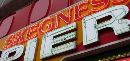 Skegness Pier signage. Photograph by Graham Soult
