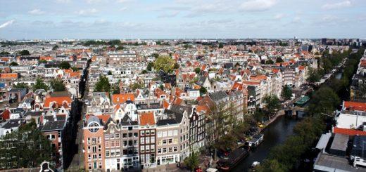 Amsterdam cityscape. Photograph by Lavinia Marin