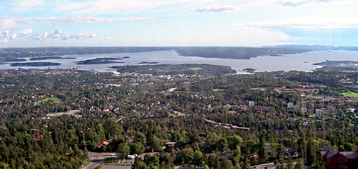 Oslo from Holmenkollen. Photograph by ChrisO