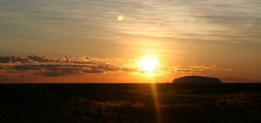 Sunrise at Uluru. Photograph by Annetteos