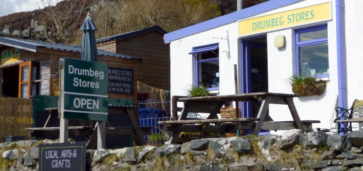 Typical local shop in Sutherland. Photograph by Graham Soult