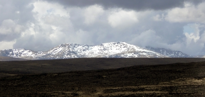 Snow-covered mountains in Sutherland. Photograph by Graham Soult