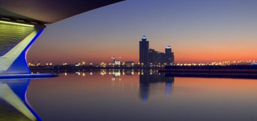 Al Garhoud Bridge in Dubai. Photograph by fsg777 at Freeimages