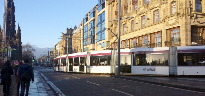 Explore Edinburgh by tram - or hop on one to the airport! Photograph by Graham Soult