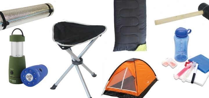 The Standard Festival Pack (£49.99) from Outdoor Camping Direct