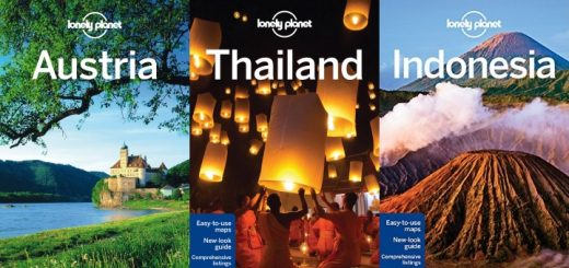 Selection of Lonely Planet travel guides