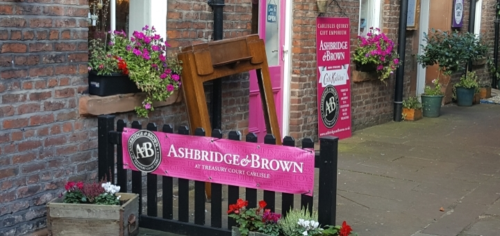 Ashbridge & Brown gift shop in Carlisle. Photograph by Graham Soult