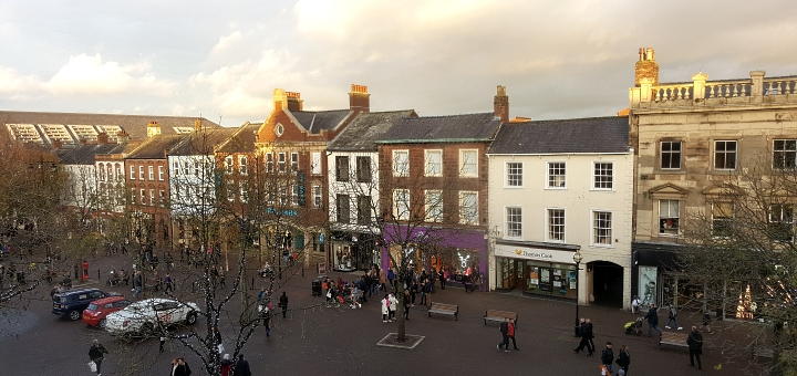 View of English Street from House of Fraser in Carlisle. Photograph by Graham Soult