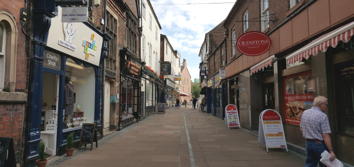 Fisher Street independent shops in Carlisle. Photograph by Graham Soult