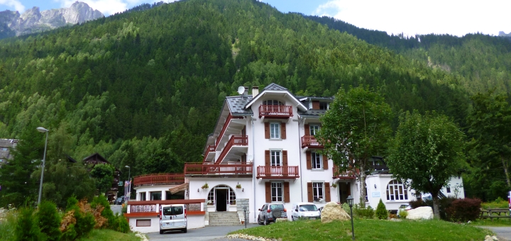 Inghams' Chalet Hotel Sapinière in Chamonix. Photograph by Graham Soult