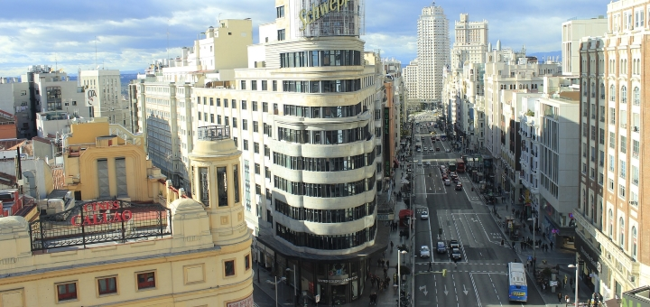 Gran Via, Madrid. Photograph by Josele Gonzalez