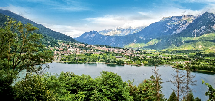 Lake Levico, one of Inghams' new resorts. Photograph by Inghams