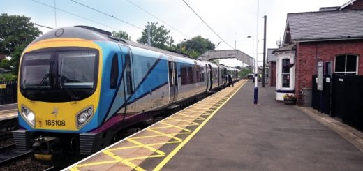 Transpennine Express train at Chester-le-Street railway station