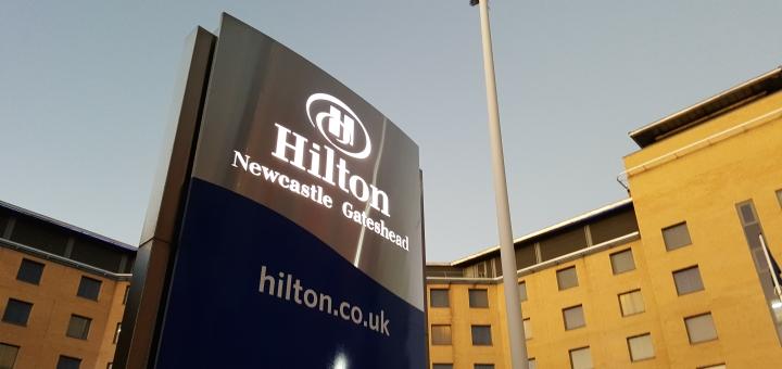 Hilton Newcastle Gateshead Hotel. Photograph by Graham Soult