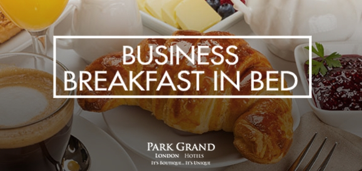 Business Breakfast in Bed promo