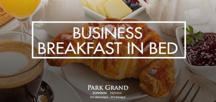 Business Breakfast in Bed promo