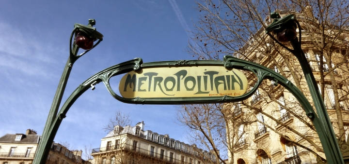 Iconic Métro sign, Paris. Photograph by Graham Soult
