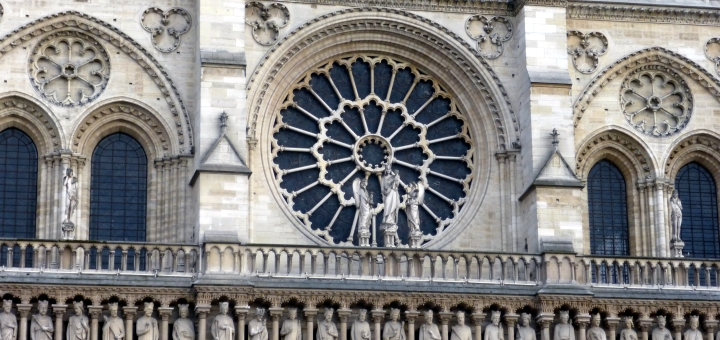 Detail of Notre-Dame Cathedral, Paris. Photograph by Graham Soult