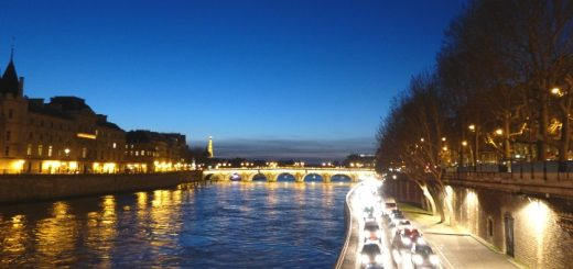 River Seine in Paris by night. Photograph by Graham Soult