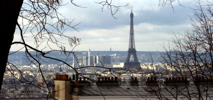 Paris skyline with Eiffel Tower. Photograph by Graham Soult