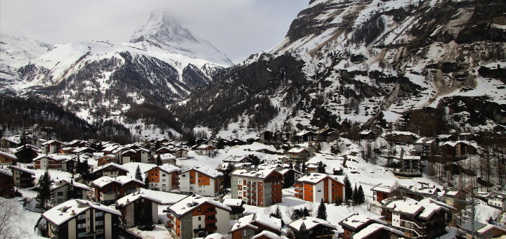 Zermatt in the snow. Photograph by Julita