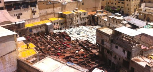 Tanneries and old town, Fes/Fez, Morocco. Photo credit: Mittmac