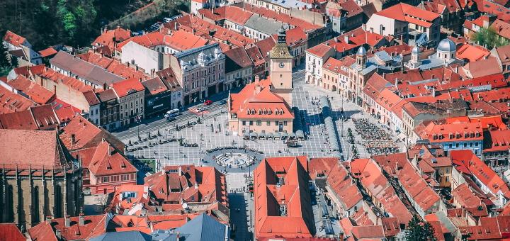 The centre of historic Brașov. Photo credit: Dan Novac