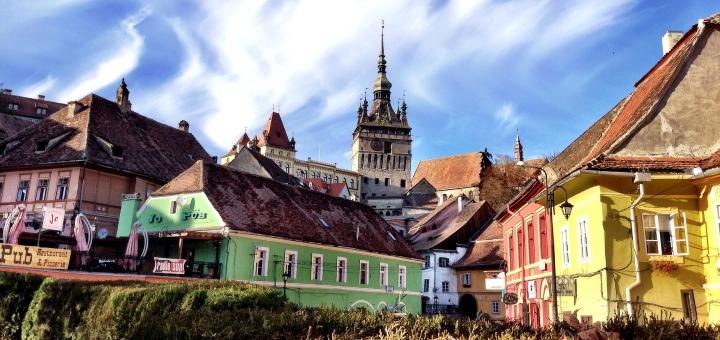 Colourful buildings in Sighișoara. Photo credit: J Walters