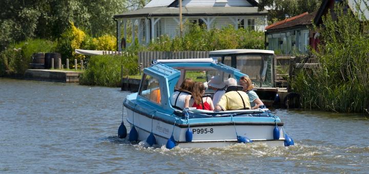 Enjoying the Broads by boat