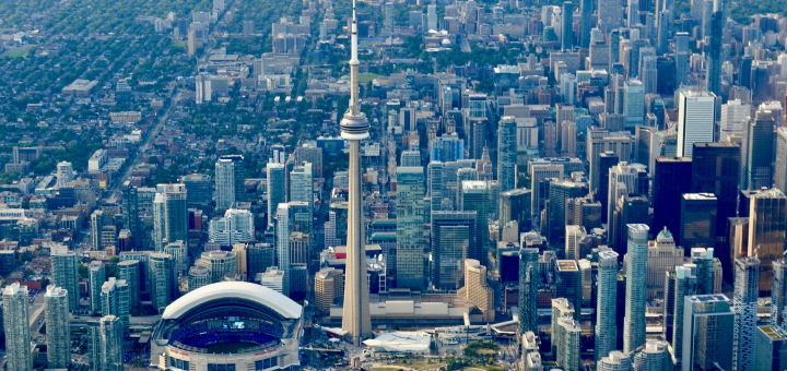 Toronto from above. Photograph by Brent Connelly