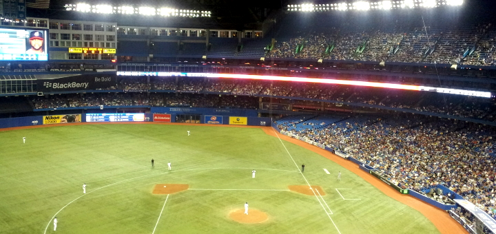Inside Toronto's Rogers Centre. Photograph by Tom Glod