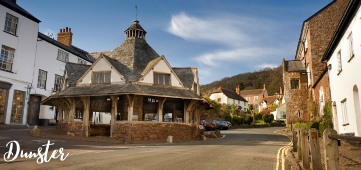 Dunster village with its 17th century Yarn Market