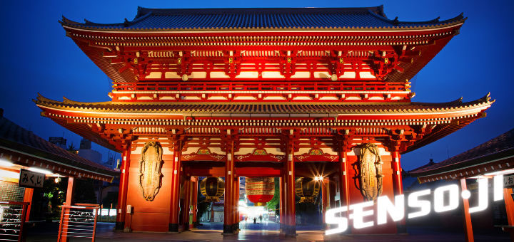The historic Sensō-ji temple