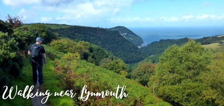 Enjoying the spectacular Exmoor scenery near Lynmouth. Photograph by Graham Soult