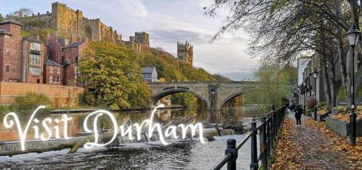 An autumn scene by the river in Durham